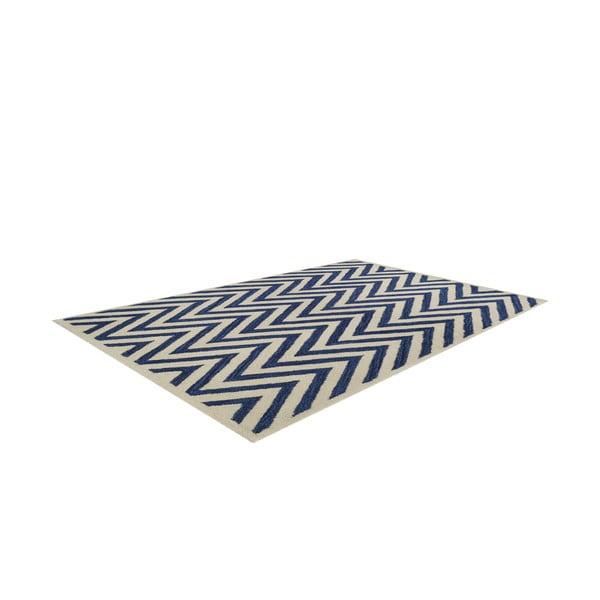 Vlnený koberec Ziggy, 122x183 cm, tmavě modrý