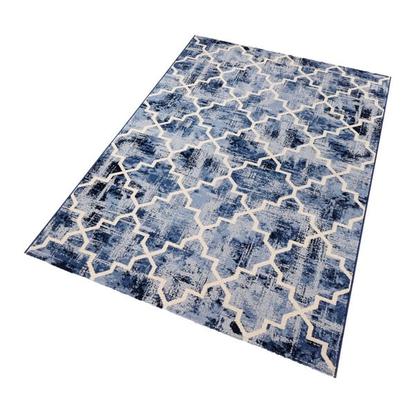 Modrý koberec Mint Rugs Diamond, 133 x 195 cm