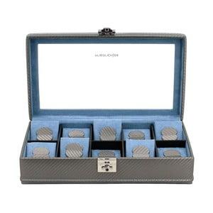 Krabička na hodinky Carbon 10 Grey