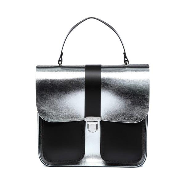 Kožená kabelka Onslow Silver/Dark Brown