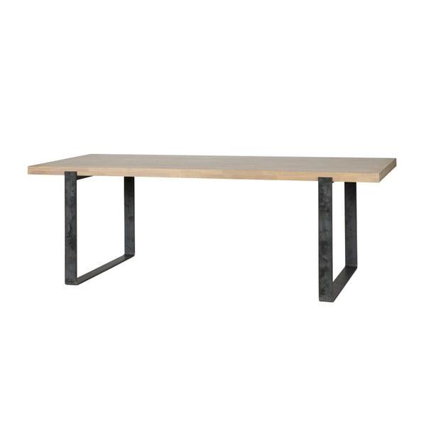 Jedálenský stôl s prírodnou doskou z dubového dreva WOOOD Jamie, 90×220cm