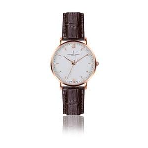 Unisex hodinky s hnedým remienkom z pravej kože Frederic Graff Croco