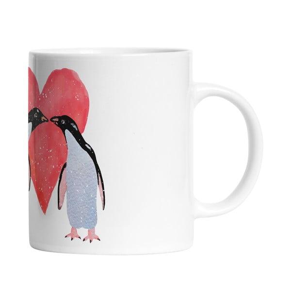 Keramický hrnček Penguin Love, 330 ml