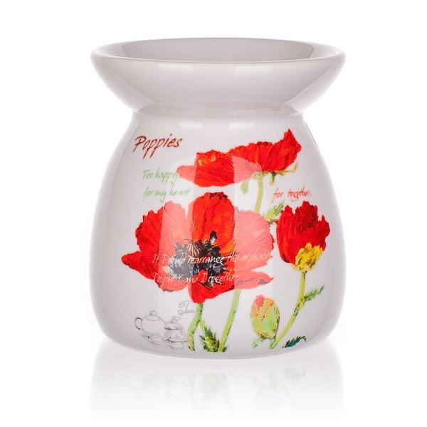 Keramická aroma lampa Banquet Red Poppy, 10,2 cm