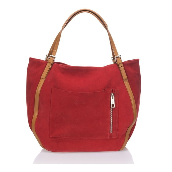 Kožená kabelka Krole Karin, červená