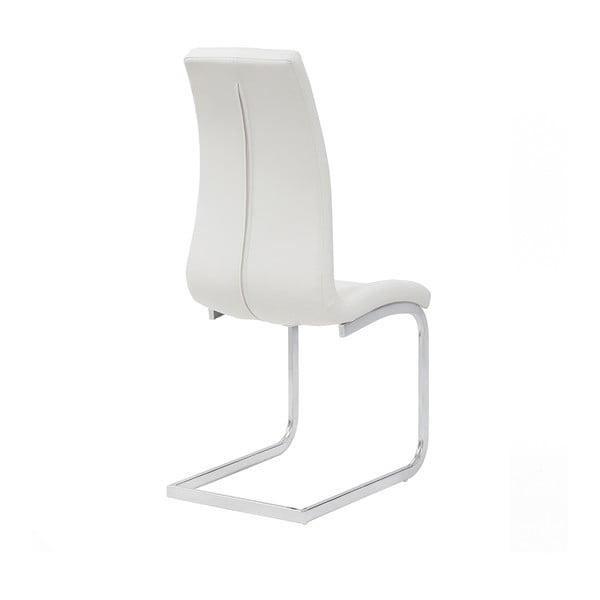 Biela jedálenská stolička Sohl