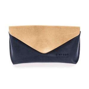 Béžovo-modrý kožený obal na okuliare O My Bag Spactacle
