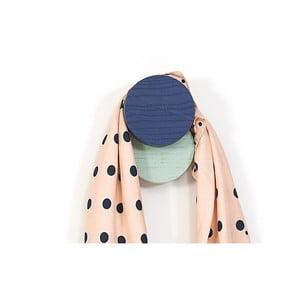 Modro-zelený nástenný háčik HARTÔ Lou