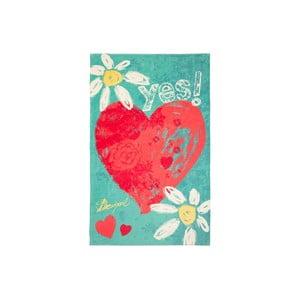 Osuška DESIGUAL Heart, 95x150 cm