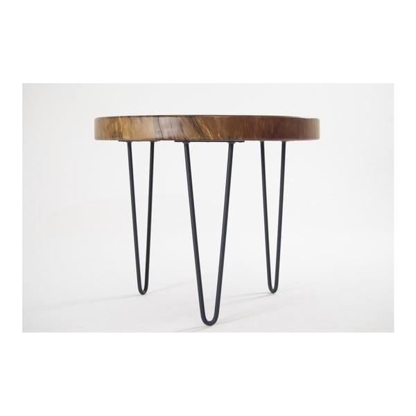 Odkladací stolík s doskou z orechového masívu Solomou