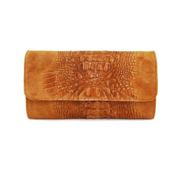 Kožená listová kabelka Snakesi Cognac