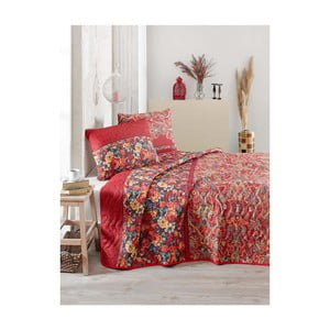 Prikrývka cez posteľ na dvojlôžko s obliečky na vankúše Despina, 200 x 220 cm