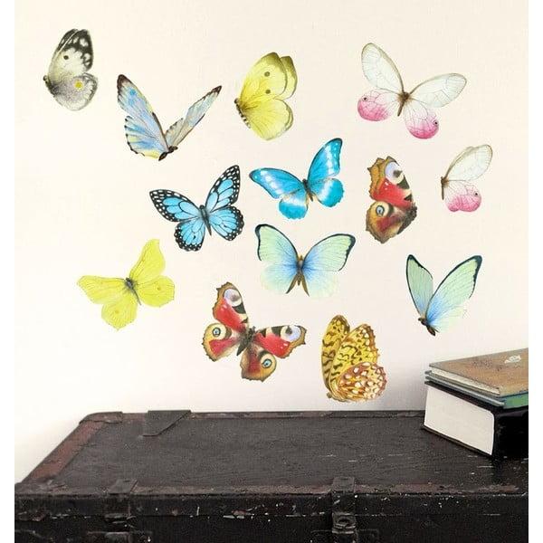 Samolepka na viac použití Watercolor Butterflies M