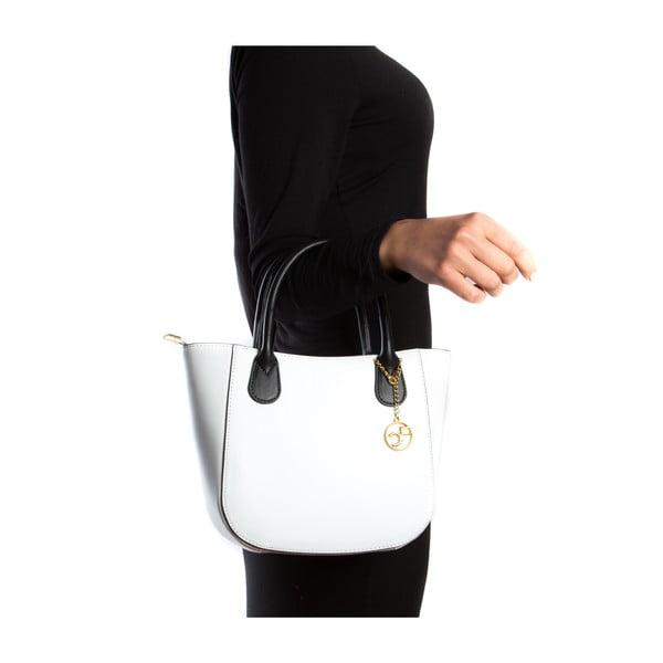 Kožená kabelka Coci, biela