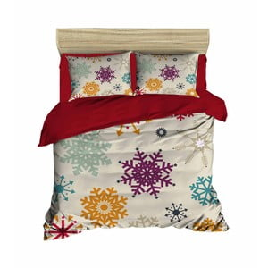 Sada obliečky a plachty na dvojposteľ Christmas Snowflakes, 200×220 cm