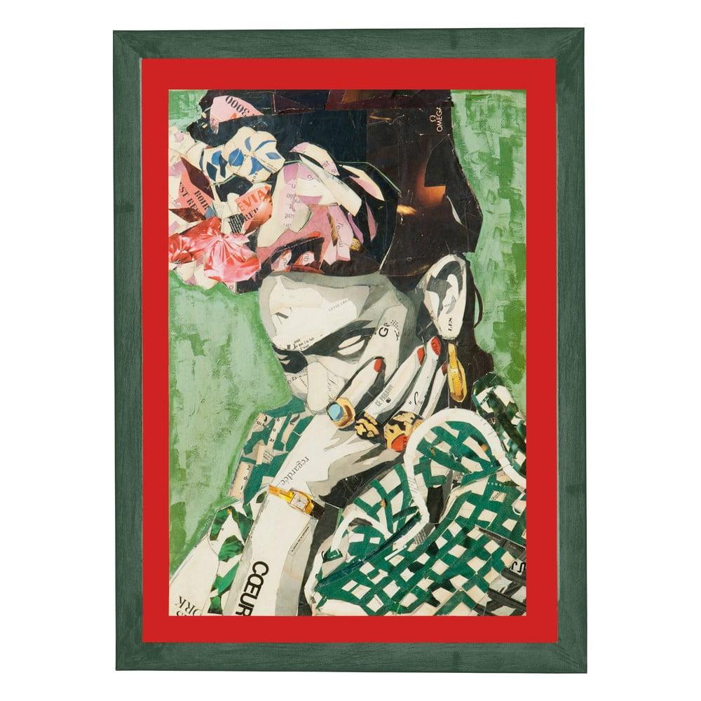 Nástenný obraz v ráme Surdic Red Frida, 30 x 40 cm