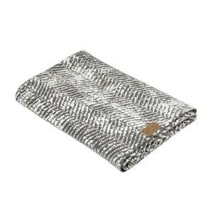 Sivá deka Hawke&Thorn Herringbone