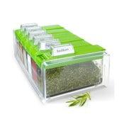 Box na korenie s 6 priehradkami Spice Box, zelený