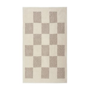 Krémový bavlnený koberec Floorist Check, 120x180cm
