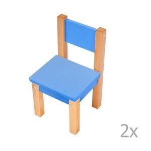 Sada 2 modrých detských stoličiek Mobi furniture Mario