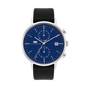Čierne pánske hodinky z pravej kože Rhodenwald & Söhne Hyperstar