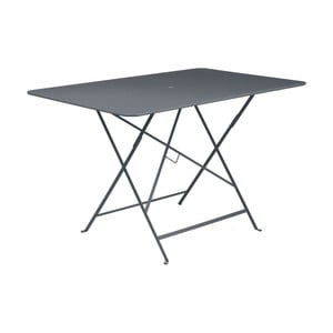 Antracitovosivý skladací záhradný stolík Fermob Bistro, 117×77 cm