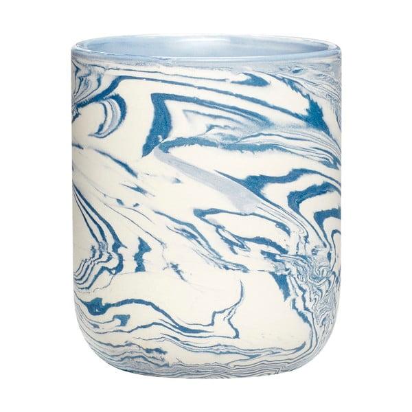 Modro-biely hrnček Hübsch Marble, výška 10 cm