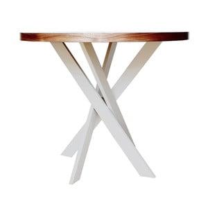 Jedálenský stôl s masívnou podnožou Nux nábytek Twist