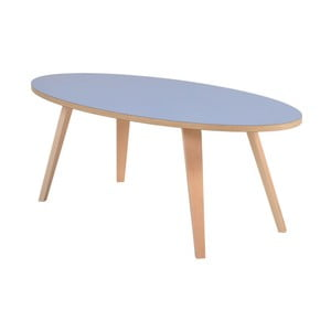 Modrý oválny konferenčný stolík Garageeight Arvika