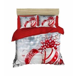 Vianočné obliečky na dvojlôžko s plachtou Frederico, 160×220 cm