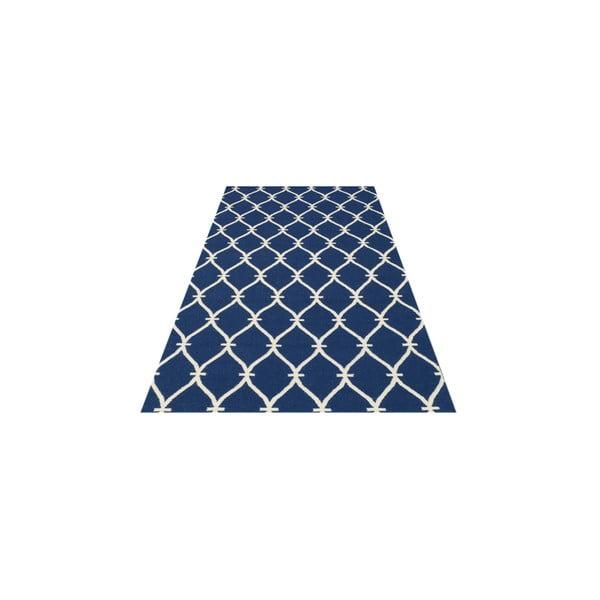 Vlnený koberec Kilim Belinda Dark Blue, 155x240 cm