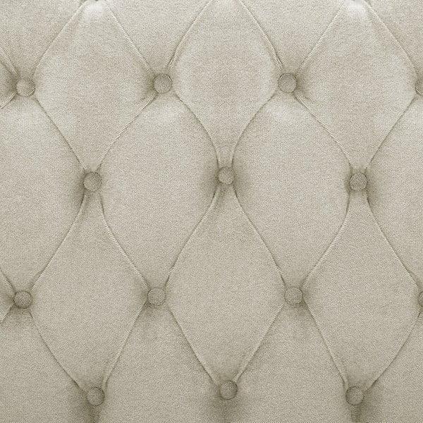 Krémová posteľ s prírodnými nohami Vivonita Allon, 140 x 200 cm