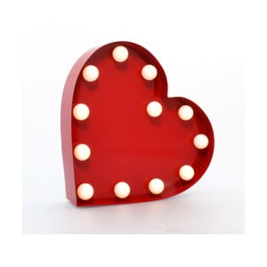 Dekoratívne svetlo Carnival Heart, červené