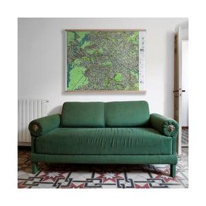 Mapa Berlína v priehľadnom puzdre The Future Mapping Company Berlin, 130 x 100 cm