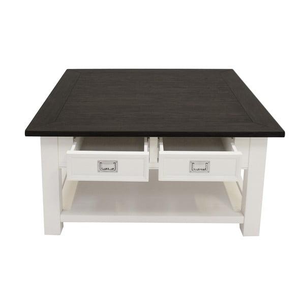 Biely konferenčný stolík Canett Skagen, 4 zásuvky