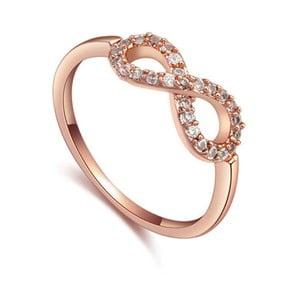 Prsteň s krištáľmi Swarovski a ružovým zlatom Eternity, veľkosť 52