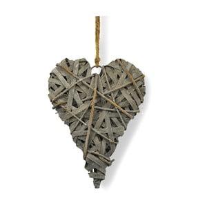 Závesná drevená dekorácia Interiörhuset Chippy Heart