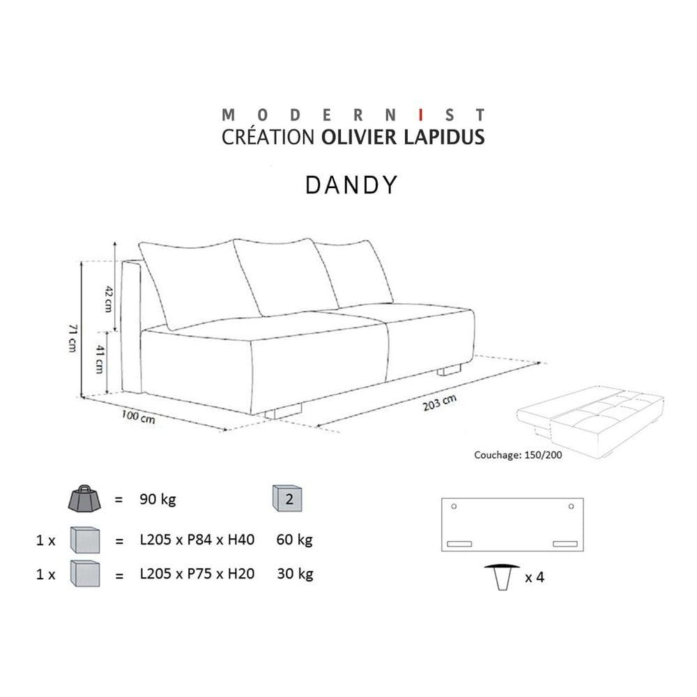 ru ovo b ov rozkladacia pohovka modernist dandy bonami. Black Bedroom Furniture Sets. Home Design Ideas