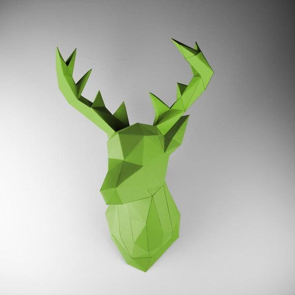 Papierová trofej Jeleň, zelený