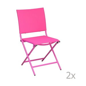 Sada 2 záhradných stoličiek Pieghevoli Framboise