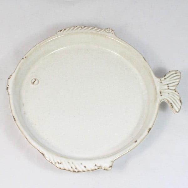Keramický tanier Ryba, 20x18,5 cm