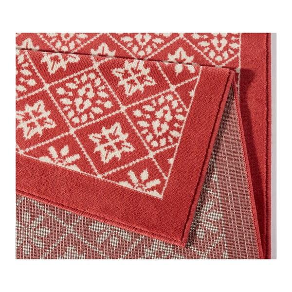 Červený koberec Hanse Home Gloria Tile, 120 x 170 cm