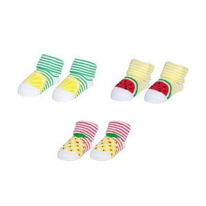 Sada 3 páry ponožiek pre bábätko Le Studio Fruits