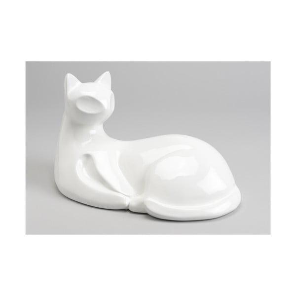 Dekoratívny objekt White Sitting Cat