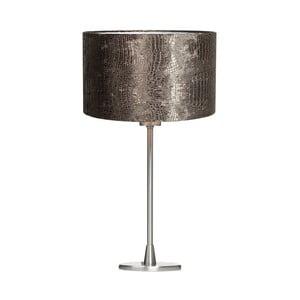 Tmavosivá stolová lampa z krokodílej kože Creative Lightings Glamour Croco