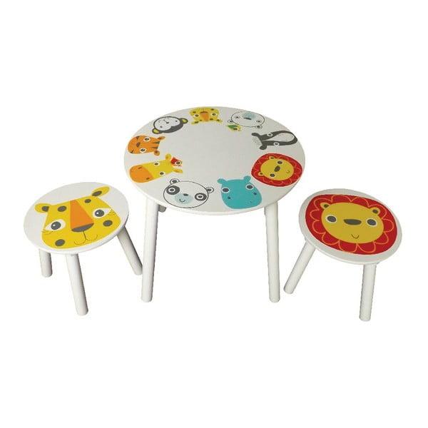 Detský stolík a 2 stoličky Safari