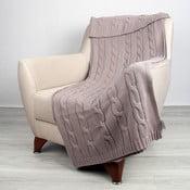 Béžová bavlnená deka Homemania Couture, 170 x 130 cm