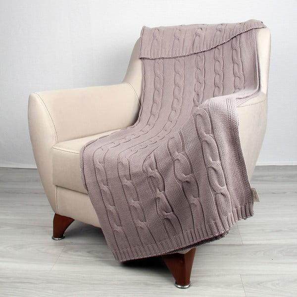 Béžová bavlnená deka Couture, 170 x 130 cm