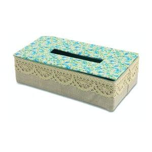 Krabička na vreckovky Flora Azzura