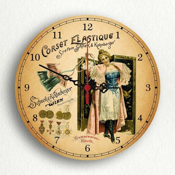 Nástenné hodiny Corset Elastique, 30 cm